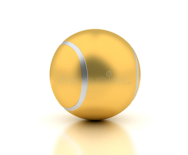 Golden Tennis Ball stock photo