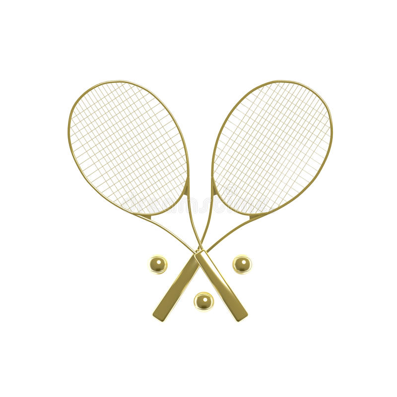 Download Golden tennis rackets stock illustration. Image of body - 9487214