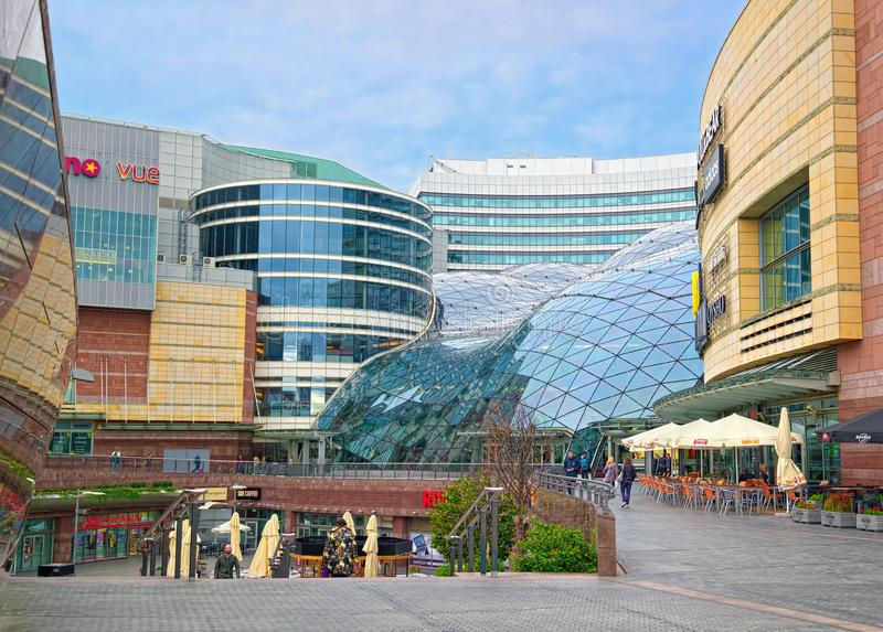 Golden Terraces mall, Warsaw, Poland stock photography