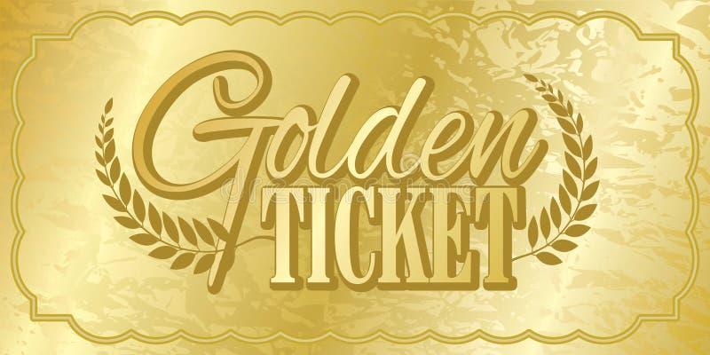 golden ticket stock vector  illustration of aged  stub