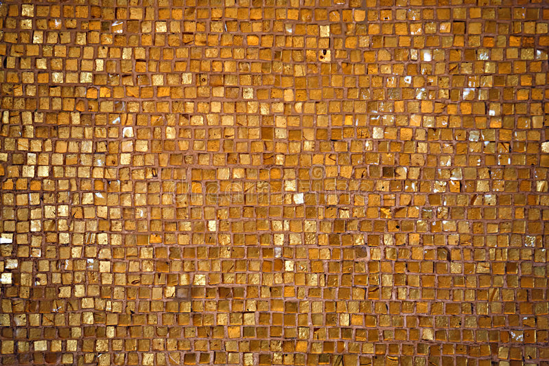 Golden tiled floor stock photo