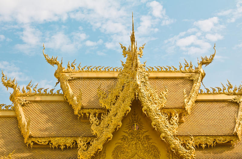 Golden toilet of temple,Thailand. stock image