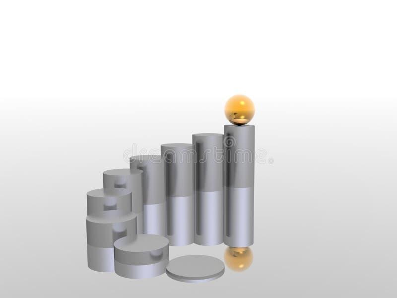 Golden top stock image