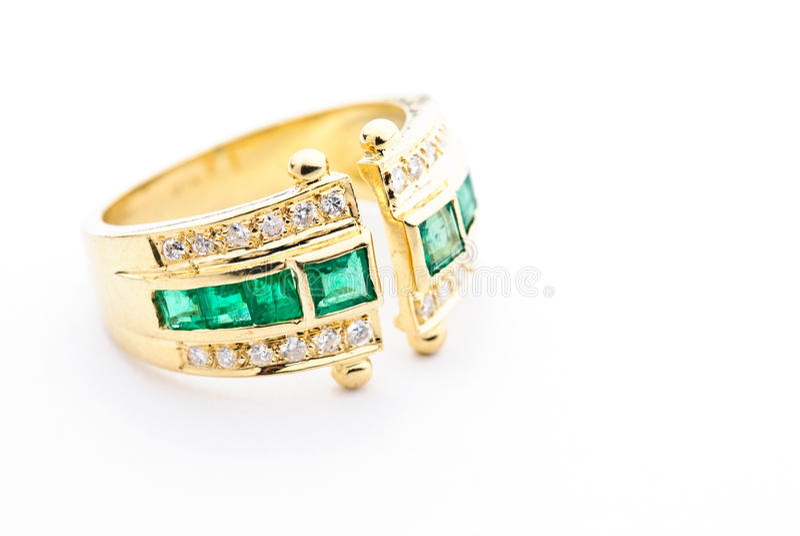 Golden tourmaline ring stock image