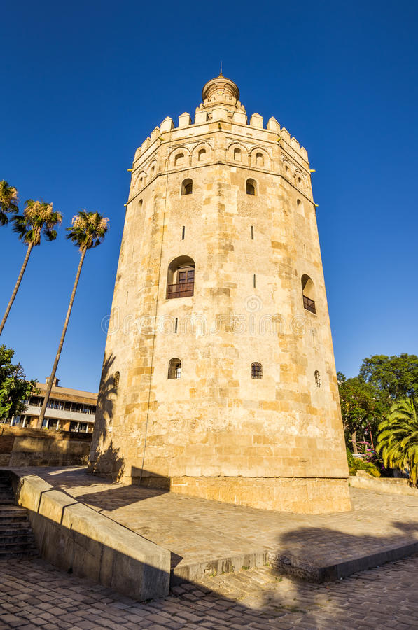 The Golden Tower of Seville royalty free stock photos
