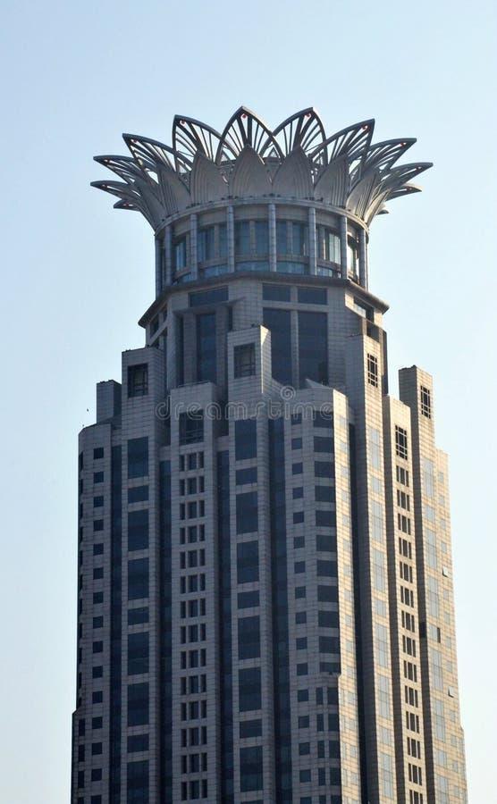 Golden Toweri with blue sky stock photos