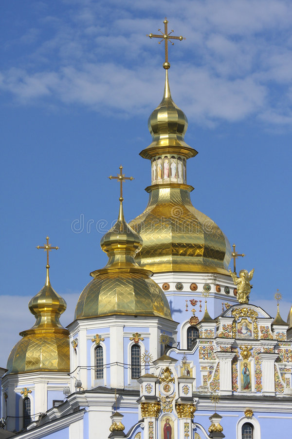 Download Golden Towers Of Orthodox Church In Kiev, Ukraine Stock Image - Image: 5747745