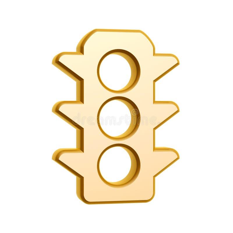 Download Golden Traffic Light Symbol Stock Illustration - Image: 30072387
