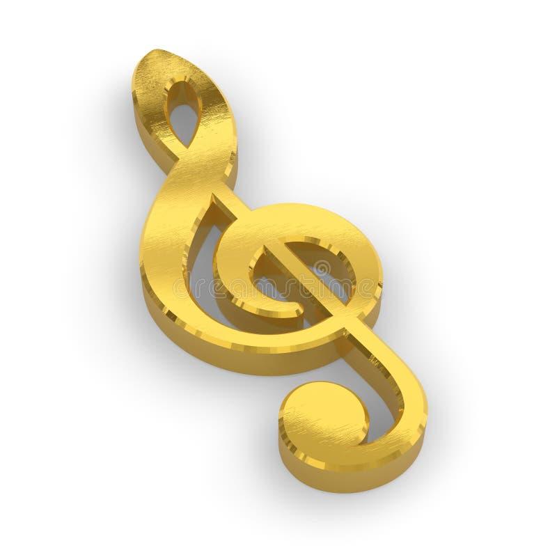 Download Golden treble clef stock illustration. Image of sheet - 10076122