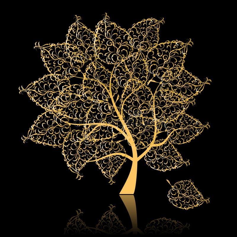 Golden tree stock illustration