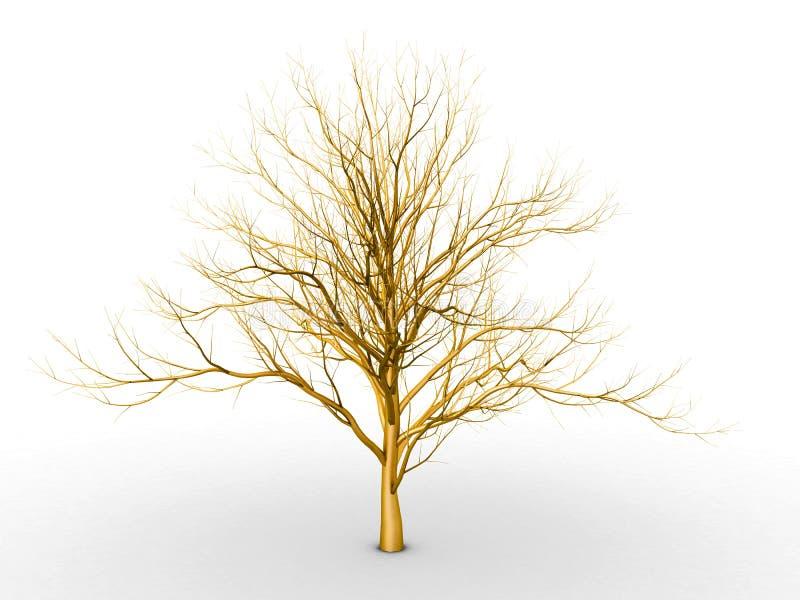 Download The golden tree stock illustration. Illustration of gold - 23875111