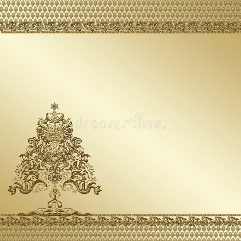 Free Golden Tree Ornate Background Stock Photos - 23725613