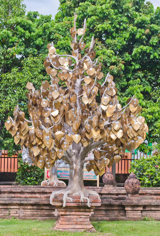 Download The Golden Tree In Thai Temple Stock Illustration - Image: 25630944