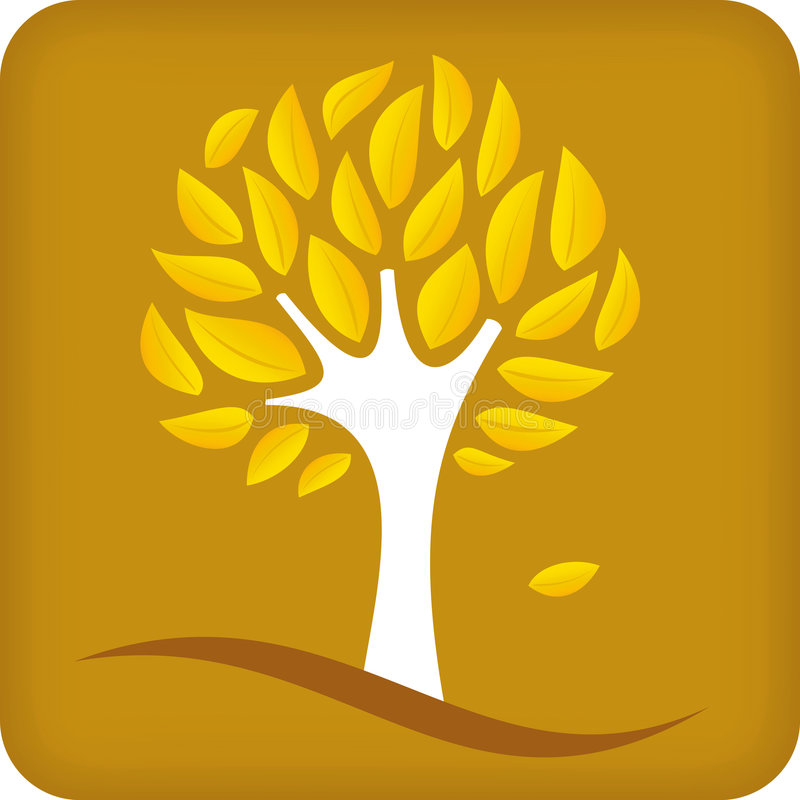 Golden Tree (vector) Royalty Free Stock Images