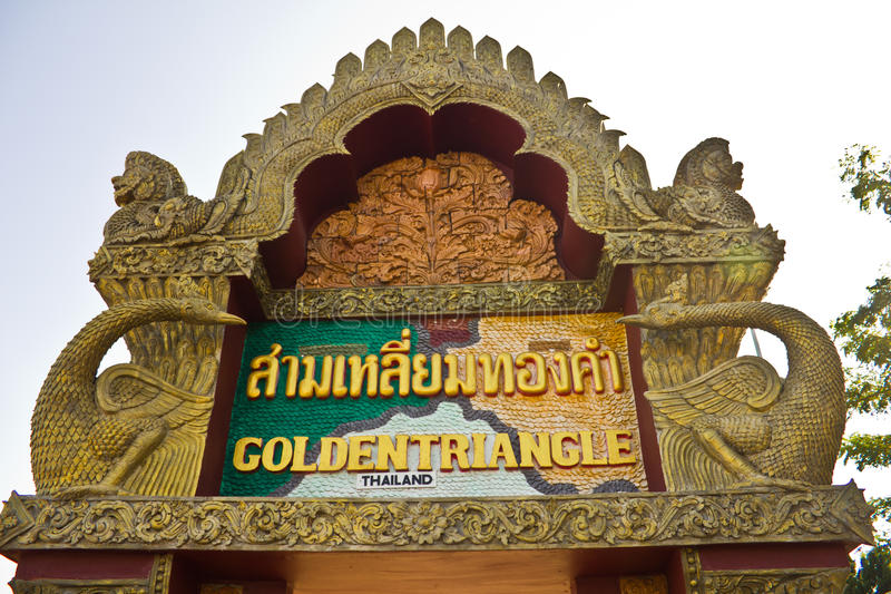Download Golden triangle arch stock photo. Image of thai, orange - 39508290