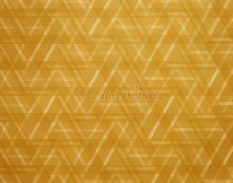 The golden triangles. abstract elegant gold background. Gold abstract triangles background for elegant designs. golden geometric design for templates royalty free illustration