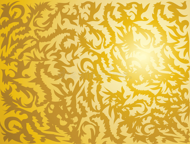 Golden Tribal Texture Royalty Free Stock Photography