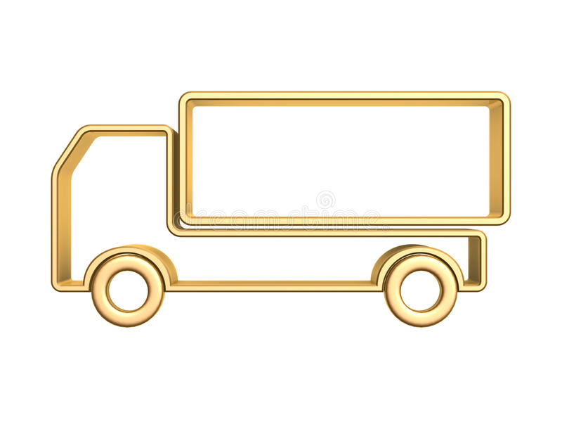 Download Golden truck curve stock illustration. Image of success - 28006569