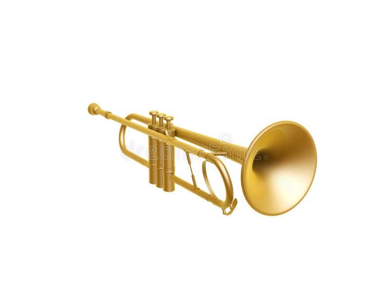 Download Golden trumpet stock illustration. Illustration of pipe - 28686840