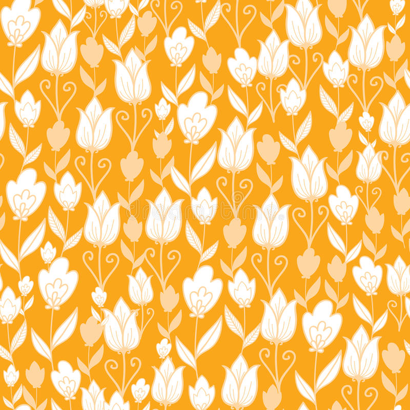 Download Golden Tulips Flowers Seamless Pattern Background Stock Vector - Image: 30992130