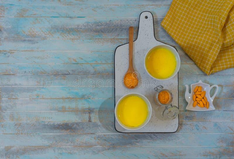 Golden turmeric milk stock images