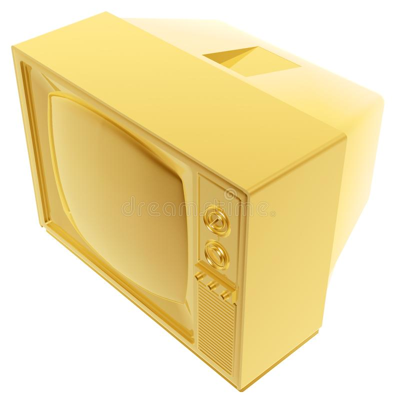 Download Golden tvset stock illustration. Image of screen, square - 3075579
