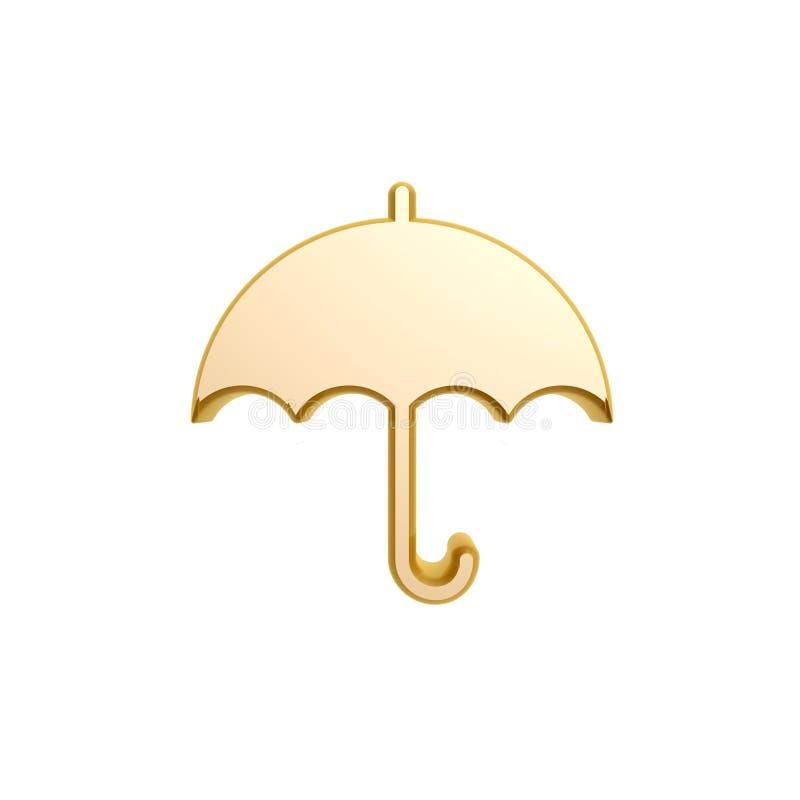 Download Golden umbrella symbol stock illustration. Image of white - 29867038