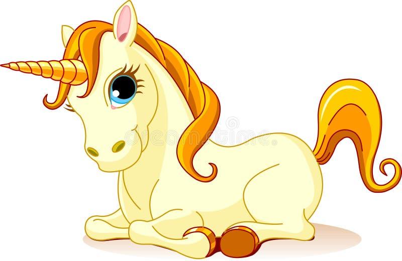 Golden Unicorn Royalty Free Stock Photo