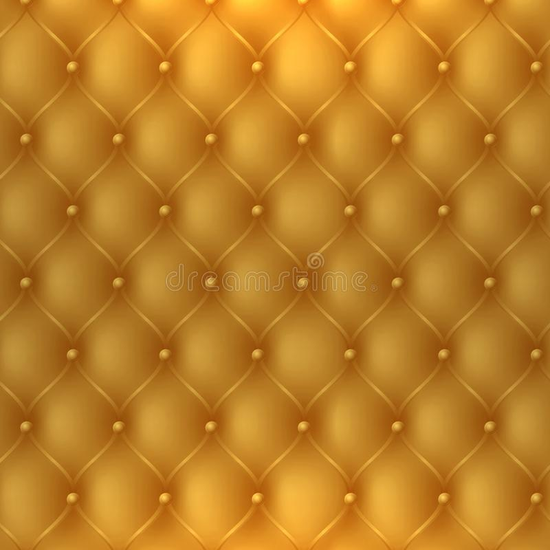 golden upholstery fabric texture, cab be used as luxury or premium invitation background vector illustration