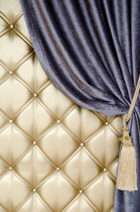 Download Golden Upholstery Velvet Curtain Background Stock Photo - Image: 32331768