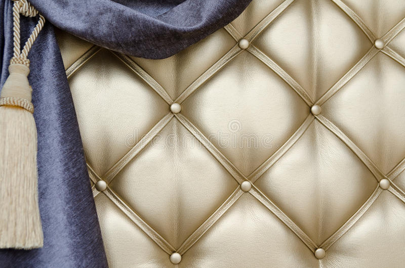 Download Golden Upholstery Velvet Curtain Background Stock Image - Image: 32476973