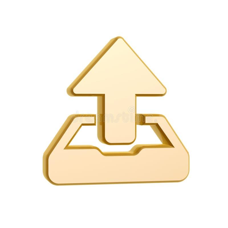 Download Golden upload symbol stock illustration. Image of object - 29867060