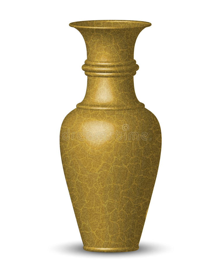 Download Golden vase stock vector. Image of fashion, decoration - 26819741