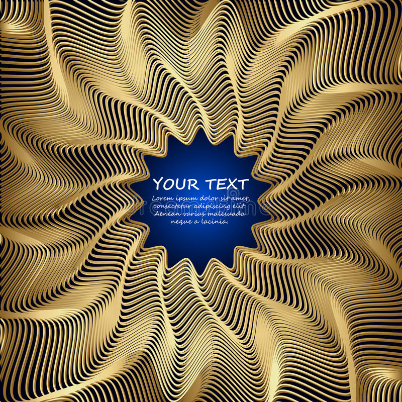 Golden vector abstract waves background. With Place for text. Congratulations card. Vector illustration vector illustration