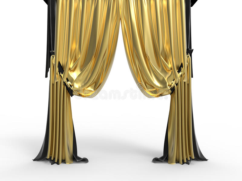 Download Golden Velvet Curtains Stock Illustration Of Classic