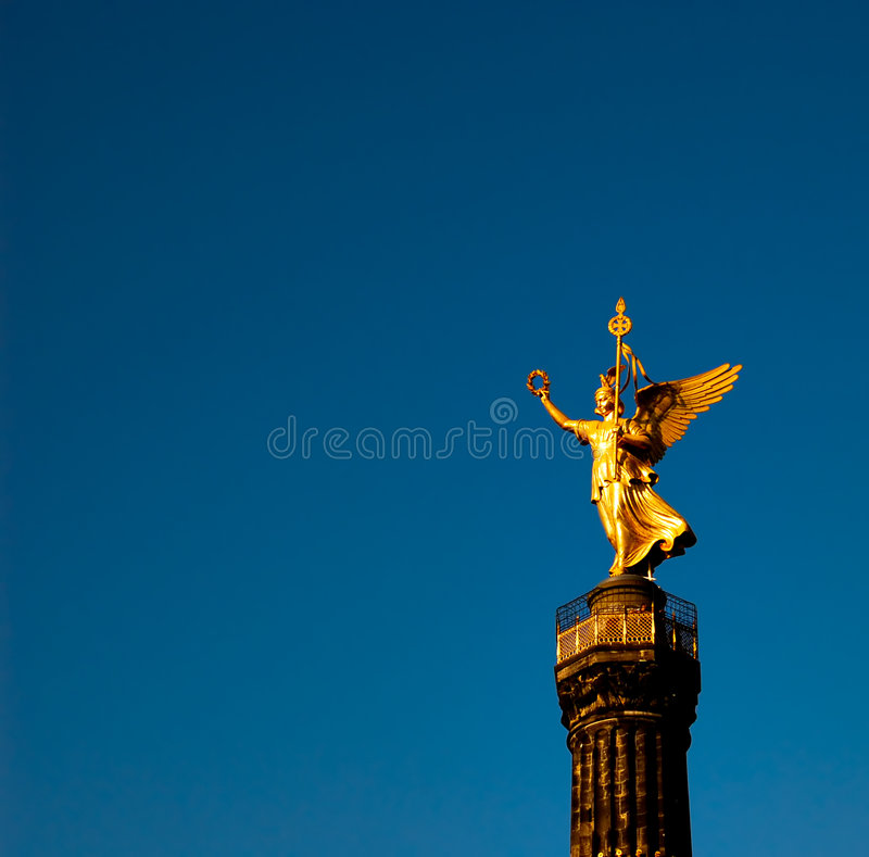 Golden Victory royalty free stock photo