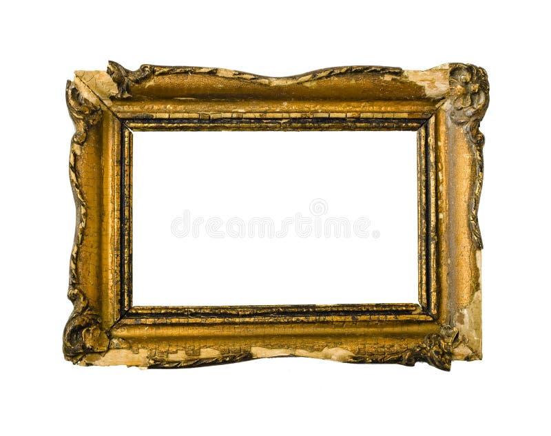 Golden vintage picture frame stock photos