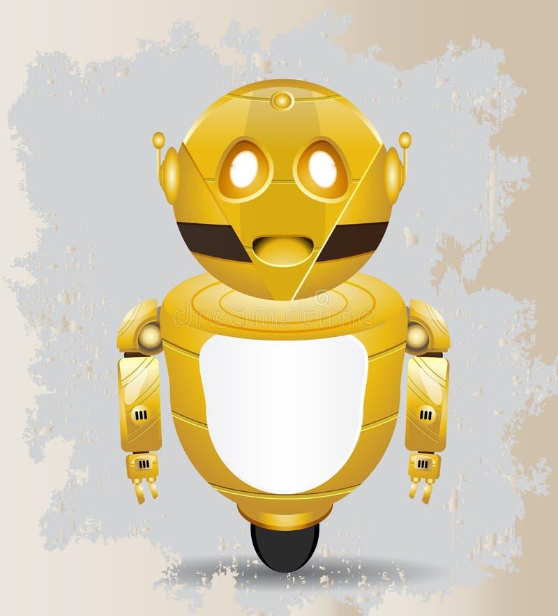 Golden vintage robot stock illustration