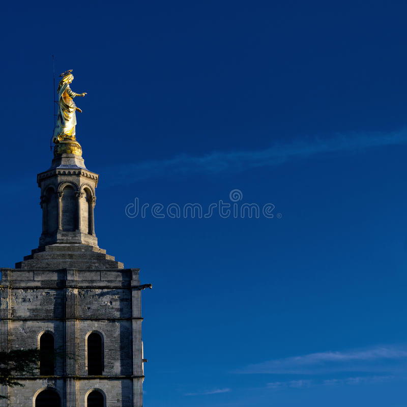 Golden Virgin Mary statue