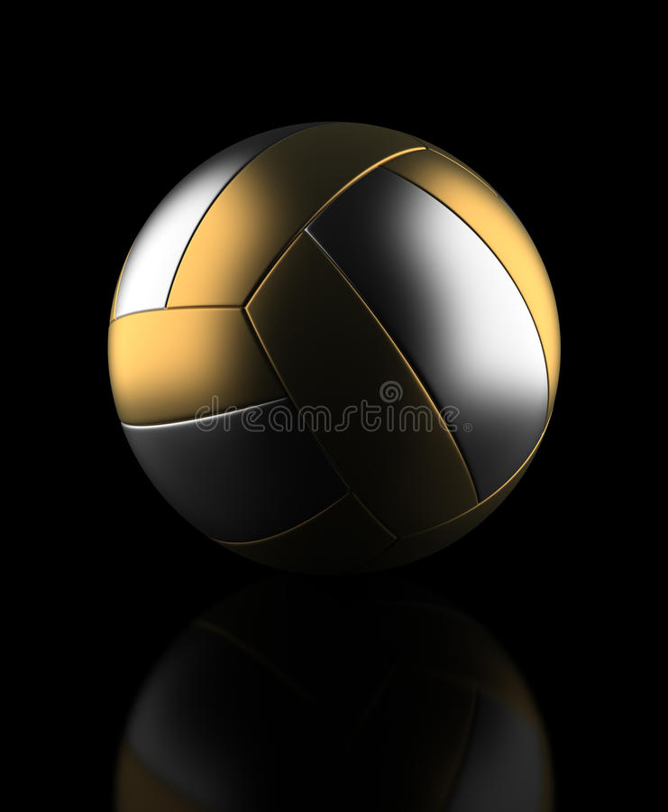 Golden Volleyball stock photo