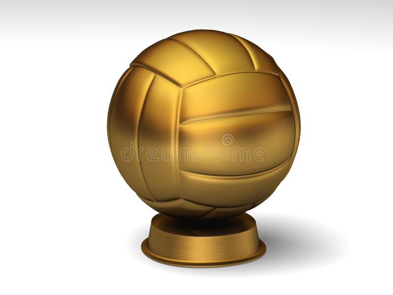 Download Golden volleyball trophy stock illustration. Illustration of play - 14110355