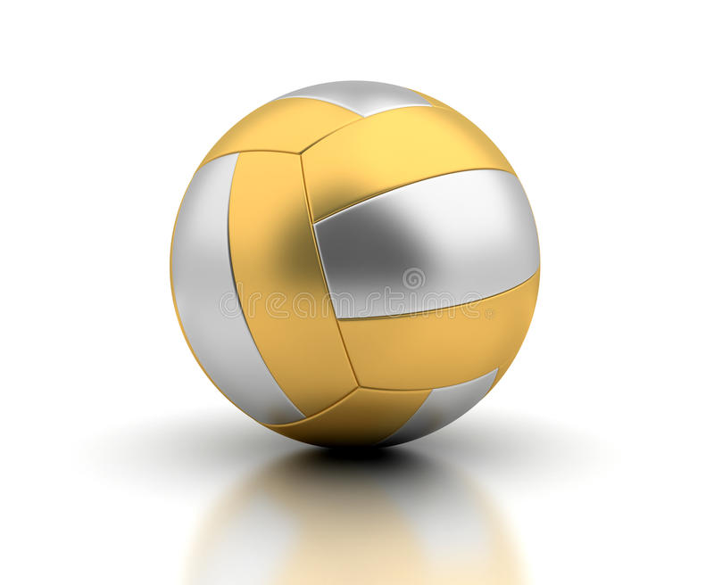 Golden Volleyball stock images