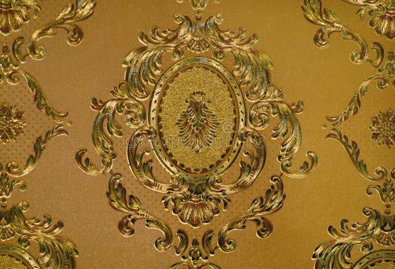 Golden wallpaper stock photo