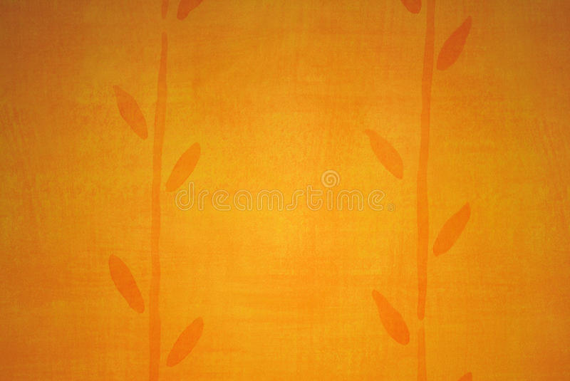 Golden Wallpaper with Abstract Plant royalty free stock photos