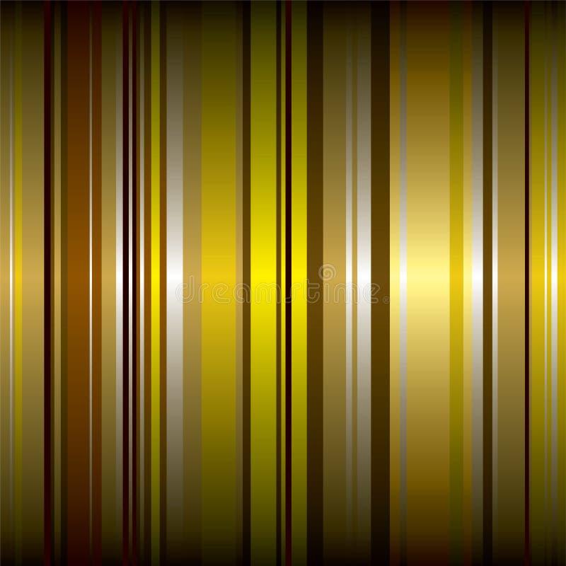 Golden wallpaper stripe vector illustration