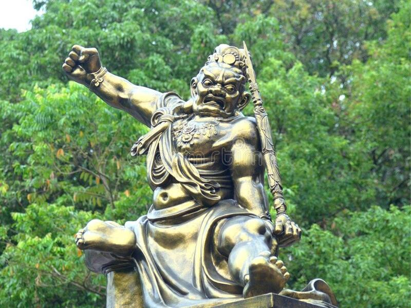 Golden Warrior Statue Free Public Domain Cc0 Image