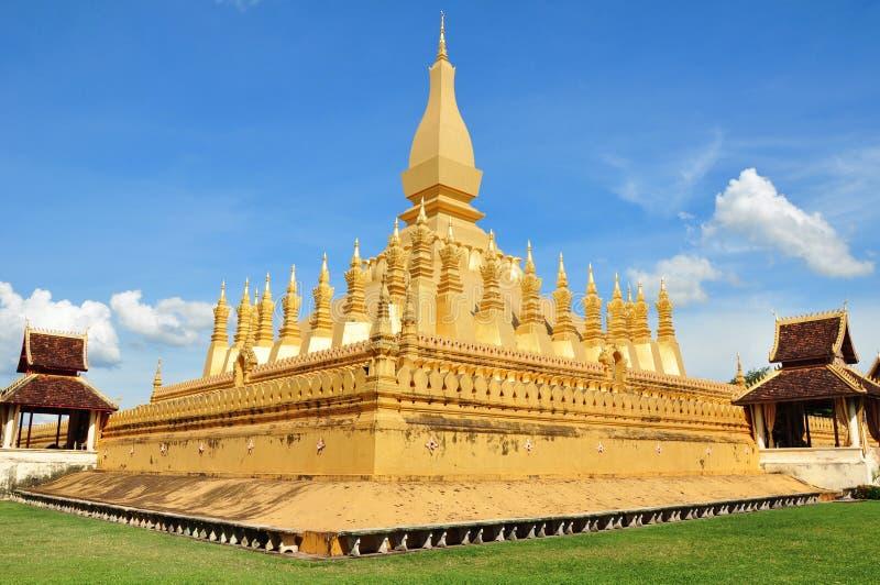 Golden Wat Tap Luange, Vientiane, Laos. Old history Golden Wat Tap Luange in Vientiane, Laos stock photo