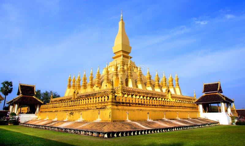 Golden Wat Thap Luang in Vientiane, Laos. Asia royalty free stock image