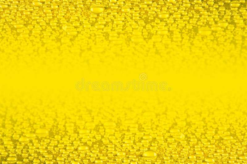 Golden water drops background royalty free illustration