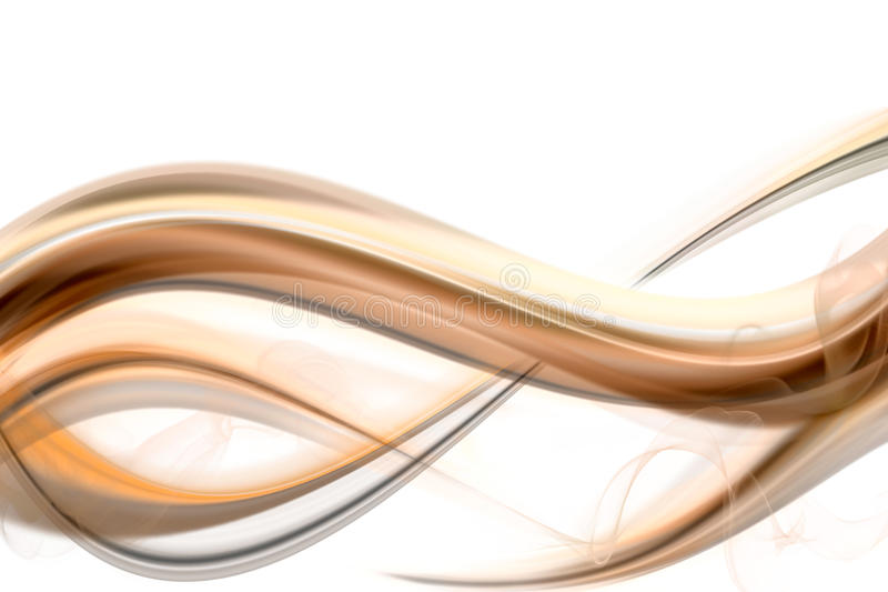 Download Golden Wave With Smoke Royalty Free Stock Image - Image: 13714746